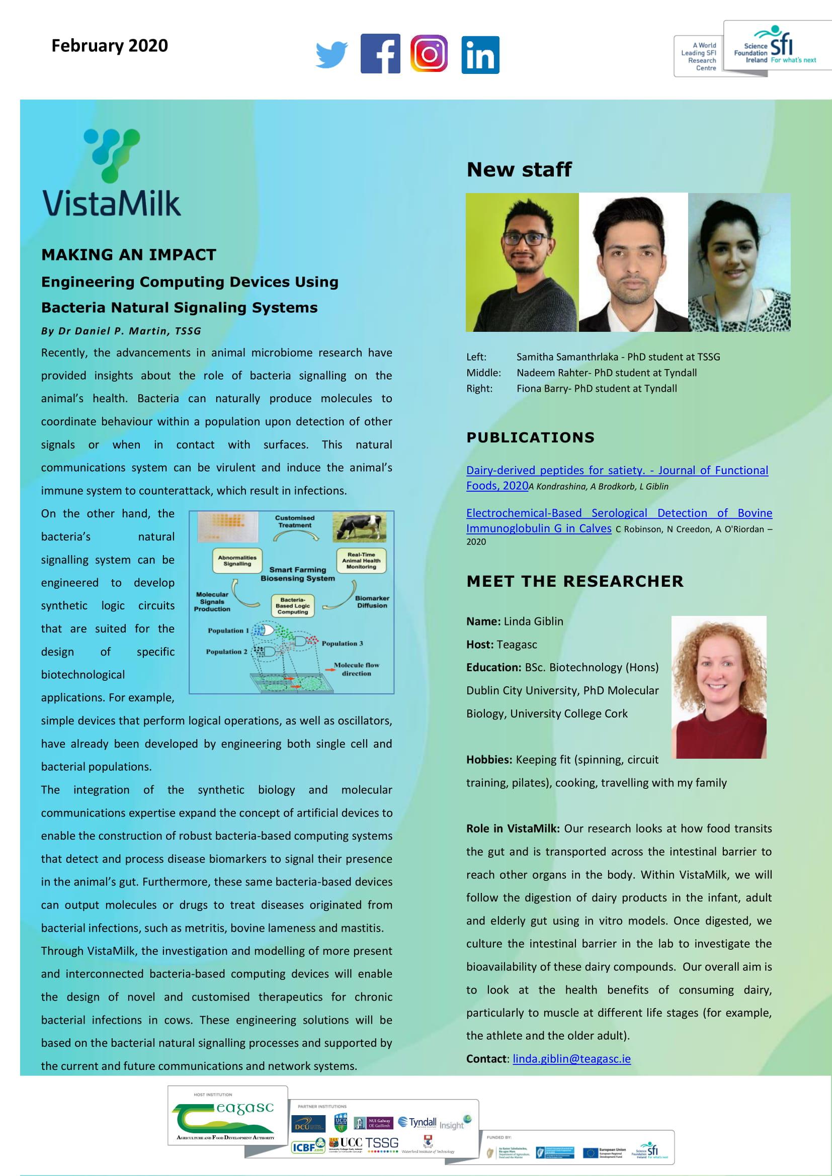 Vista Milk February 2020 Updates | VistaMilk