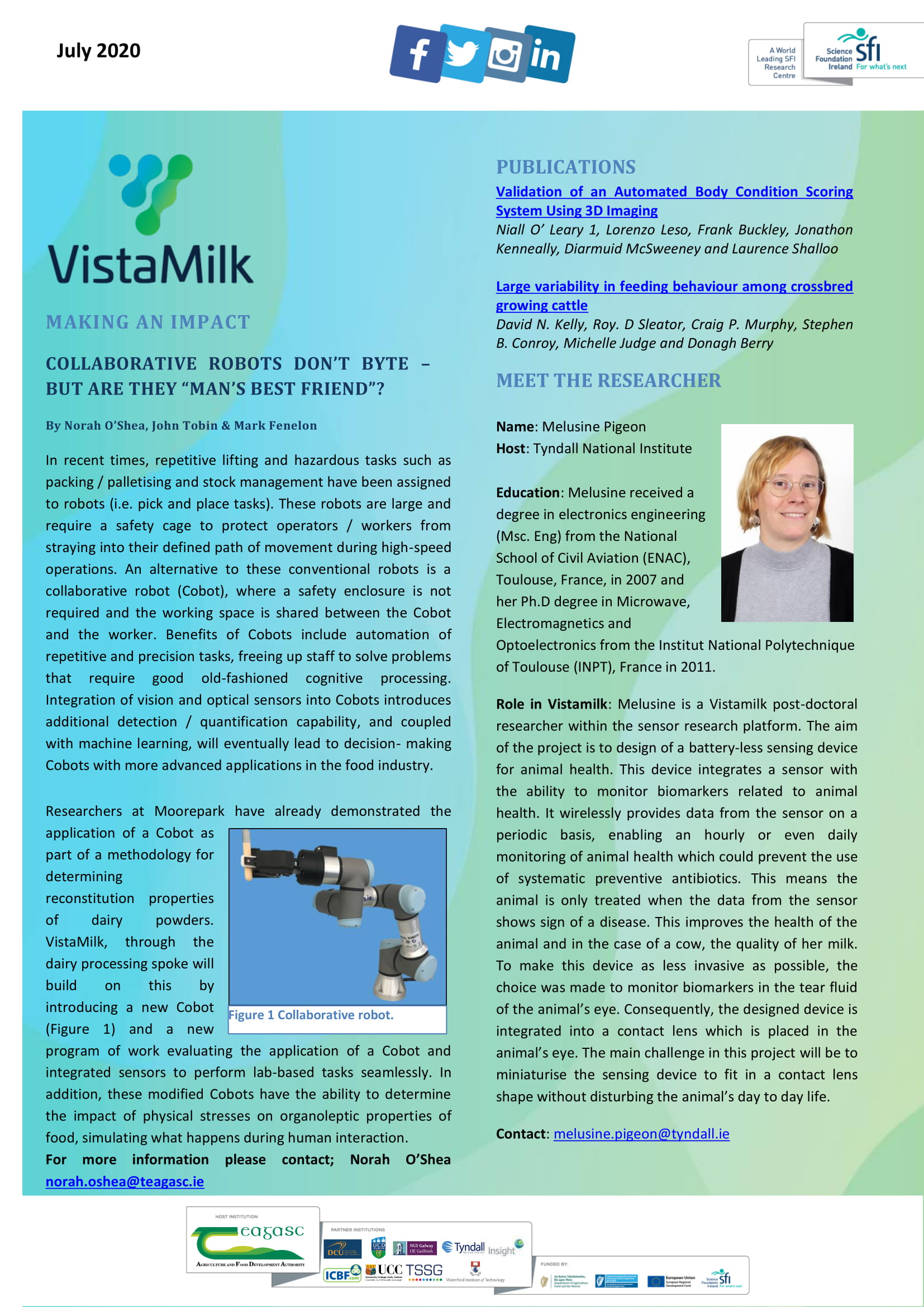 Vista Milk July 2020 Updates | VistaMilk
