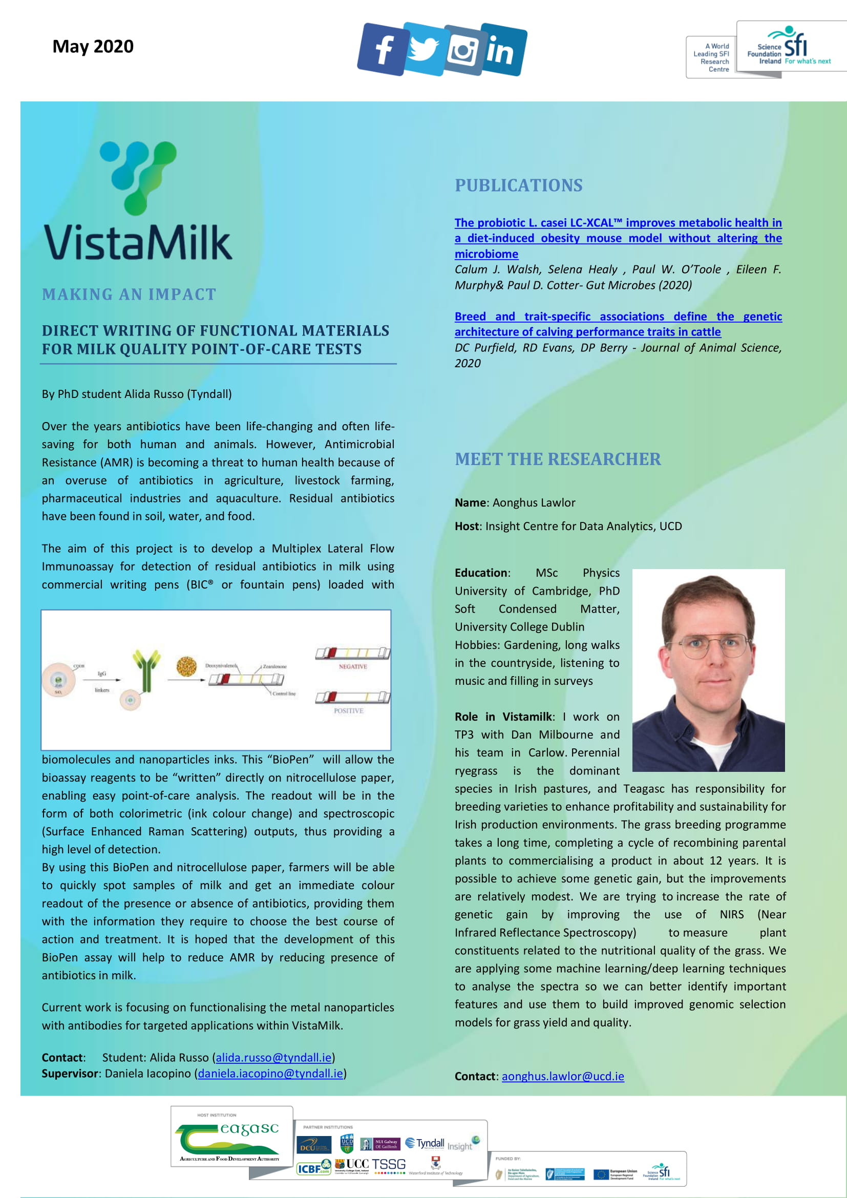 Vista Milk May 2020 Updates | VistaMilk