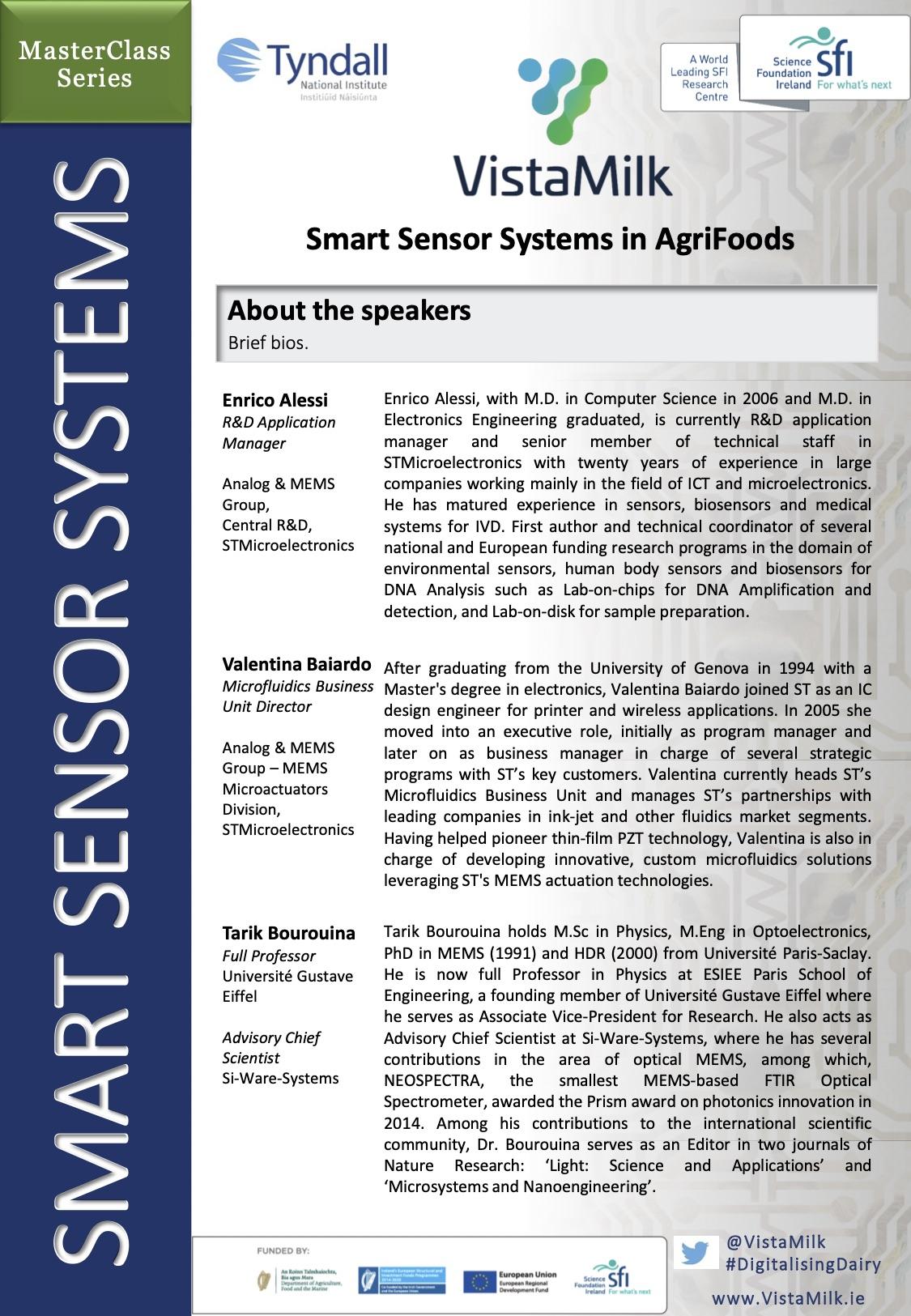 Smart Sensors Masterclass | VistaMilk