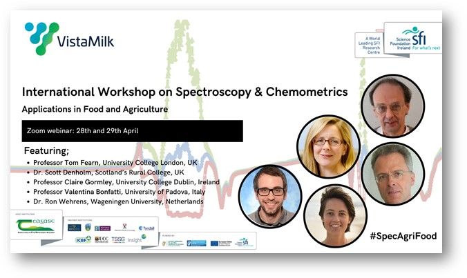 International Workshop on Spectroscopy and Chemometrics: Applications in Food and Agriculture   VistaMilk